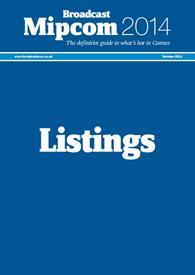 Mipcom listings 2014