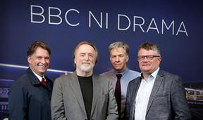 Richard Williams, Chief Executive, Northern Ireland Screen, My Mother And Other Strangers writer Barry Devlin, Stephen Wright, Head of Drama, BBC NI and Peter Johnston, Director BBC Northern Ireland