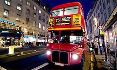 London Buses at Night Blast Rides London Night Bus